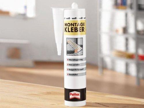Pattex cartouche de colle de montage 400 g blanc
