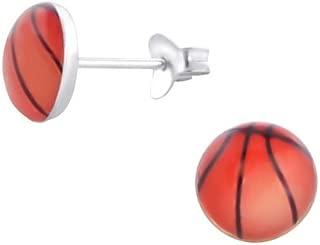 Charms de basket-ball avec Homard Argent 925./Poli et sans nickel Liara