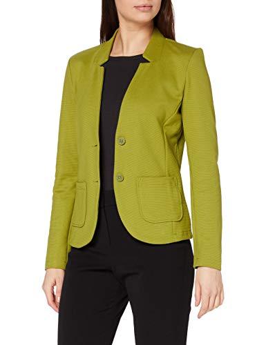 TOM TAILOR Damen Basic Jersey Blazer, Grün (19651-wood Green), XS