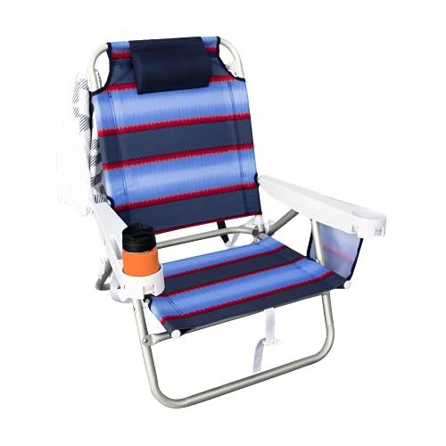 Hurley Deluxe Backpack Beach Chair, Pitas Tie Dye Obsidian