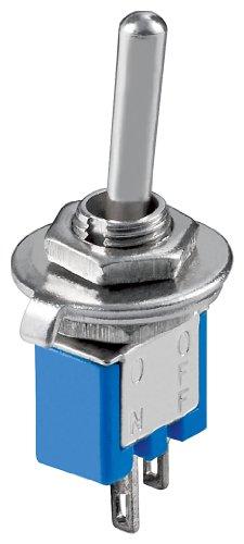 Goobay 10013 Kippschalter Subminiatur, EIN - AUS, 2 Pins, blaues Gehäuse
