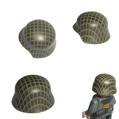 Custom Brick Design 3X M35 Stahlhelm Camo Design V.5 (Tarnnetz) des DR im WW2 - Soldaten Waffe | Zubehör für Lego Figuren