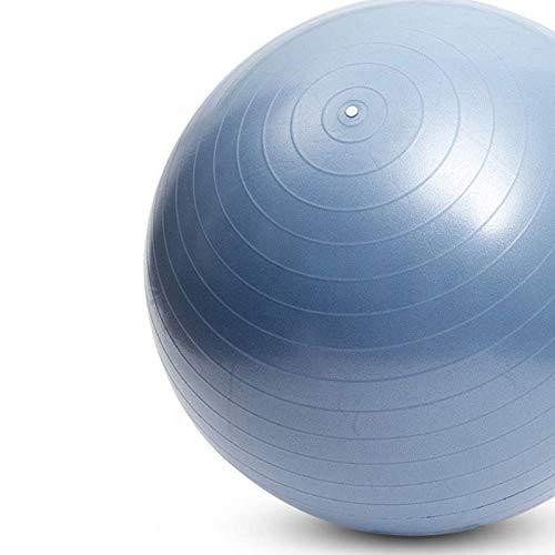 MQSS Total Body Balance Ball Palla Svizzera Esercizi Fitness Yoga Gravidanza Palestra a casa -Anti Scoppio- Anti Scivolo- 65cm 75cm - Guida Esercizi Inclusoblue 75cm
