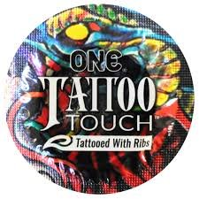 ONE Tattoo Touch with Silver Lunamax Pocket Case, Textured with Ribs Premium Latex Condoms-24 Count
