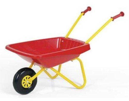 Rolly Toys Schubkarre (Alter ab 2,5 Jahre, Kunststoffschüssel, Griffe rutschfest, Metallrohrrahmengestell) 270859