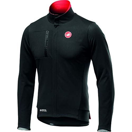 castelli Double Espresso Jacket, Giacca Sportiva Uomo, Light Black, S