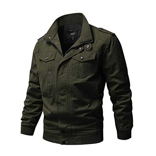 WEEN CHARM Men's Military Jacket Casual Cotton Outdoor Windbreaker Jacket