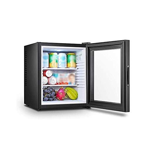 QIN 20L Pequeño Refrigerador compacto, una sola puerta Refrigerador, Congelador puerta de vidrio Cuarto de Hotel Frigorífico Semiconductor Refrigeración seguro y ahorro de energía, bajo consumo de ene
