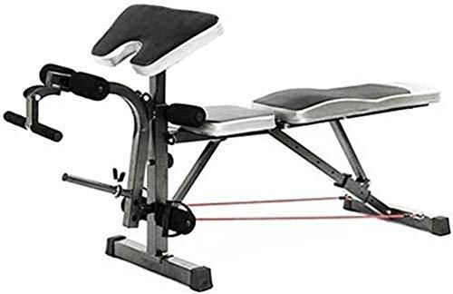 mjj Banco de entrenamiento para casa, banco de pesas ajustable, entrenamiento en casa, banco de pesas multifunción, banco de pesas para sentadillas y posición de espalda