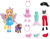 Polly Pocket Playset 2019-2020 Fashion Collection | Costume Party Themed Fashions and Accessories | Pirate Mermaid Fairy Clothes and Bag | Includes 3-inch Polly Doll