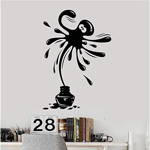 Muursticker voor woonkamer, klassiek, vinyl, positieve poloshirt, marineblauw, Nursery