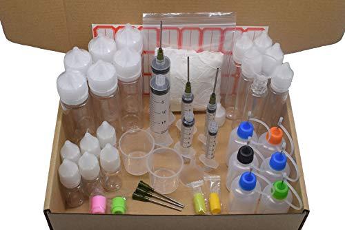 DIY E-liquid Mixing Accessorio Pack Ricarica E-cigs Vape con bottiglia Siringa ago 510 810 Drip Tip Funnel Glove Etichetta Misurino