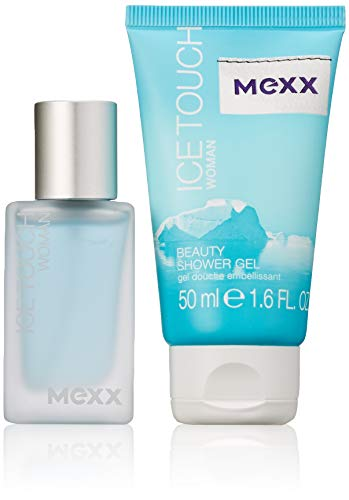 Mexx Duftset Ice Touch Woman Eau de Toilette 15ml + Showergel 50ml, 1er Pack (1 x 65 ml)