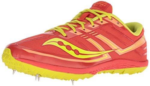 Saucony Women's Kilkenny XC7 Track Shoe, Orange/Green, 9.5 M US