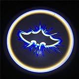 XY pour 1pcs Universel Voiture LED Portes Bienvenue Projecteur Laser Logo Ghost Shadow Lumineux Accessoires de Voiture sans Fil Voiture Compatible avec (Emitting Color : Batman)