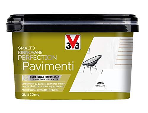 V33 Smalto Rinnovare Perfection Pavimenti Bianco Satinato 2 l