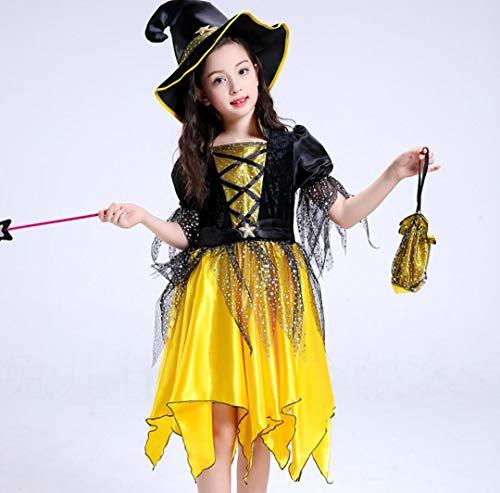 SMACO Cosplay Heks Anime Dans Prestatie Kleding Halloween Meisjes Cosplay Heks Anime Dans Prestatie Kostuum 100-150Cm