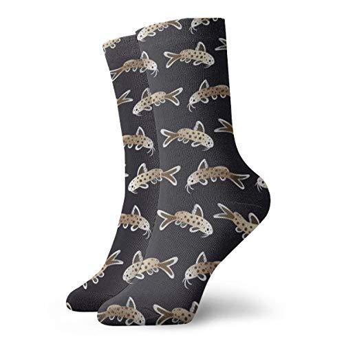 Leopard Catfish Athletic Crew Socken Running Tube Sock Dicke Workout Socken Ganzjahressocken für Herren Damen