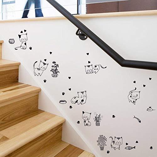 Leeypltm Muursticker, waterdichte muurstickers, afneembaar muurstickers, moderne muurdecoratie, sticker uitgangsdecoratie, kan als verjaardagscadeau worden gebruikt