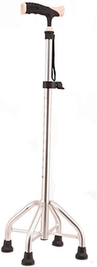 Non-Slip Four-Legged Cane, self-Supporting Adjustable Telescopic