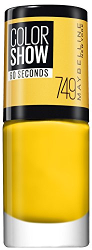 Maybelline New York Make-Up Nailpolish Color Show Nagellack Electric Yellow / Ultra glänzender Farblack in leuchtendem Gelb, 1 x 7 ml