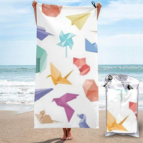Vector Patrón Sin Costuras Origami Aviones Toallas De Playa Colorido Super Absorbente Arena Libre Ligero Piscina Toallas Manta De Playa
