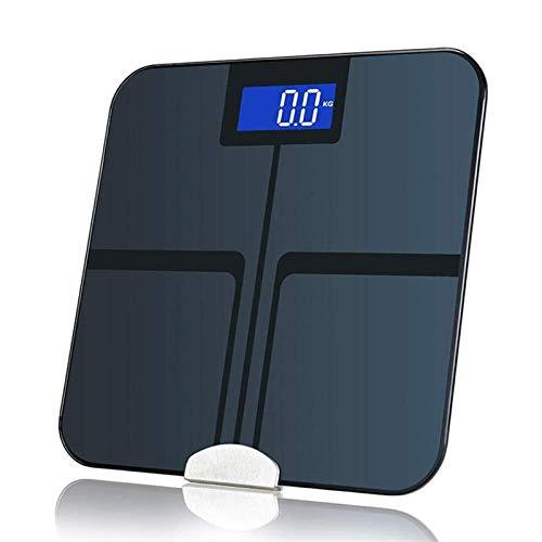 BINGFANG-W Discs Waage intelligente Bluetooth-Gewicht-Skala, LCD-Digital-Körperfett Muskel-Waage, mit AppControl, Personenwaage, 180Kg Abrasive