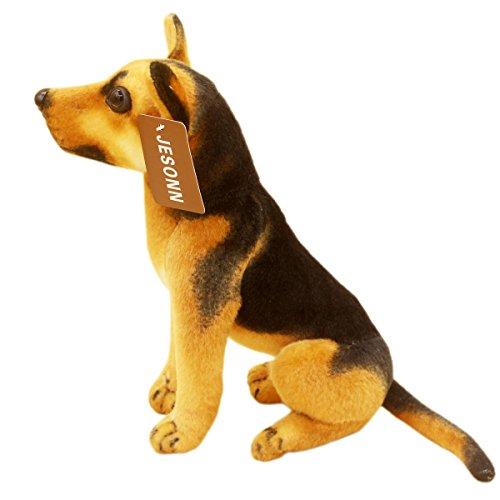 JESONN Lifelike Stuffed Animals Toys Sitting Dog Plush (Shepherd, 10 Inches)