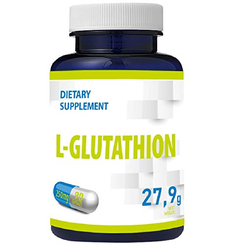 L-Glutathion (Reduziert) 250mg 90 Vegan Kapseln 3 Monate Vorrat