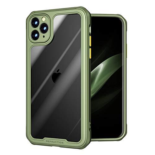ZHIKE Funda para iPhone, Funda de protección Duradera anticaída Funda de TPU Suave Funda Antideslizante a Prueba de Golpes Compatible con Apple iPhone (iPhone 11 Pro MAX, Verde)