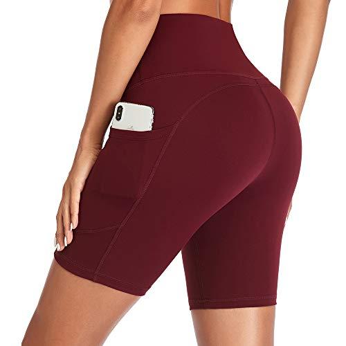 GIMDUMASA Pantalones Cortos Deporte Mujer Cintura Alta Shorts Leggins Pantalones Cortos de...