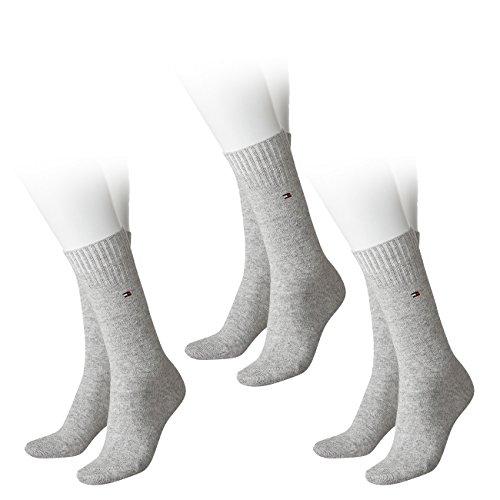 Tommy Hilfiger Damen Socken Woman Sock Cashmere 3er Pack, Größe:35-38, Farbe:light grey melange (035)