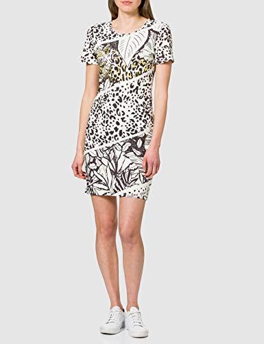 Desigual Vest_be Wild Vestido Casual, Blanco, L para Mujer