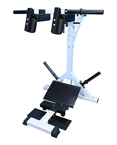 "TDS Leverage Calf & Squat Machine with Industrial Grade Pillow Block Bearings, 4"" Thick Contour Shoulder and Back Pads, Heavy Duty Diamond Plates to accommodate Short to Tall 6'-6"" People."