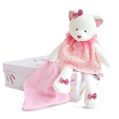 Doudou et Compagnie DC3546 ATTRAP-REVE - Cat-Marionette con coperta, colore: Rosa