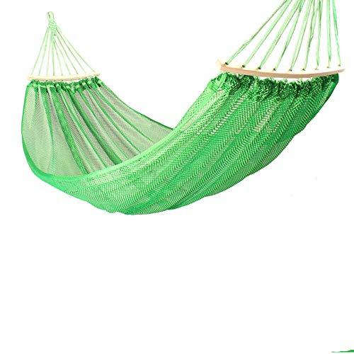 RSdfjLfjd Prevención de Rollover Simple y Doble Hamacas Al Aire Libre/jardín Camping Ocio portátil Playa Swing Cama Colgante del árbol de Hamaca suspendida-Verde 200x125cm(79x49inch)