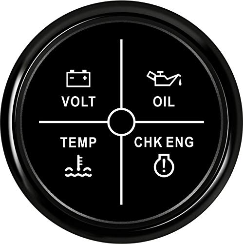 U/D HKRSTSXJ 52mm Medidor de Temperatura del medidor 9-32V Volt/Aceite/Agua/Check Engine Indicador LED 4 Calibre for el Barco del Coche (Color : 800 00260, Size : Gratis)