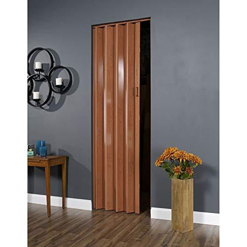 Spectrum 32 Inch x 96 Inch Folding Door in Pecan Brown