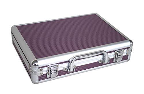 Poinsettia - Maletín de herramientas de aluminio para instrumentos y equipos técnicos con inserto de espuma ajustable, Morado