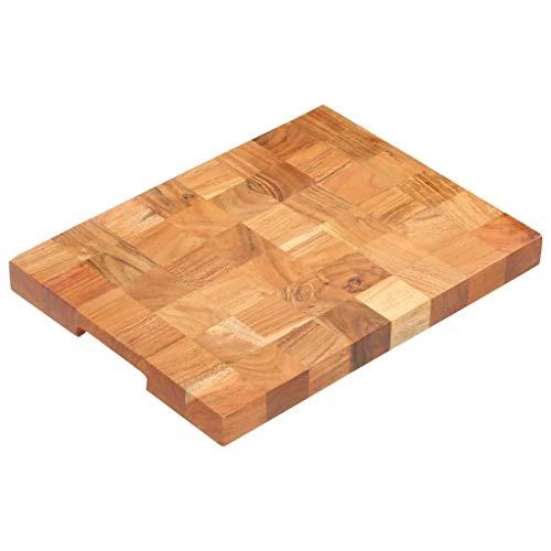 VidaXL Bloc de hachage en bois d'acacia massif 40 × 30 × 3,8 cm