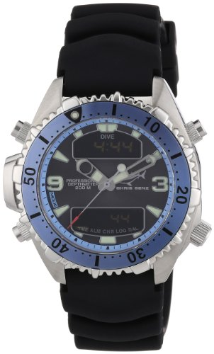 Chris Benz Unisex-Armbanduhr Digital Kautschuk CB-D-LIGHTBLUE-KB