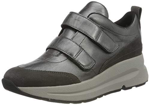Geox D BACKSIE D, Zapatillas Mujer, Gris Oscuro, 37 EU