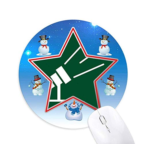 Teleskope Light Observation Stars Snowman Mouse Pad Round Star Mat