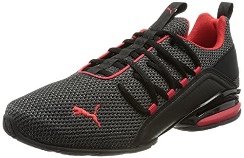 PUMA AXELION LS, Zapatillas para Correr Hombre, Black-High Risk Red, 41 EU