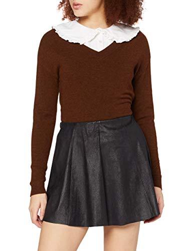 Only Onlbest Neolin Faux Suede Skirt Otw Noos Gonna, Nero (Black Black), 36 (Taglia Produttore: Small) Donna