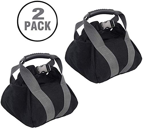 2 Pcs Adjustable Weightlifting Training Sandbag Fitness, Workout High Intensity Exercises Power Bag for Training Home Training, Yoga, Fitness