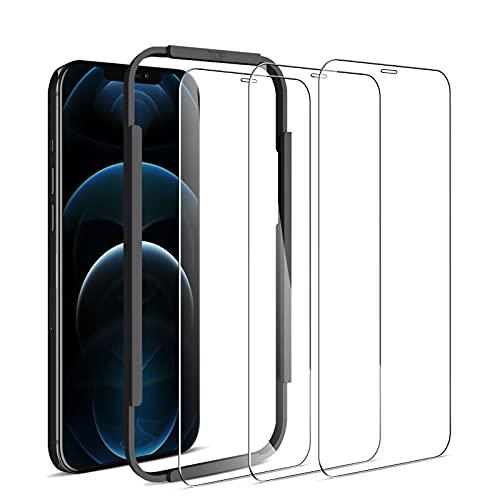 opamoo Protector Pantalla para iPhone 12 Pro MAX,[3 Piezas] Cobertura Completa Cristal...