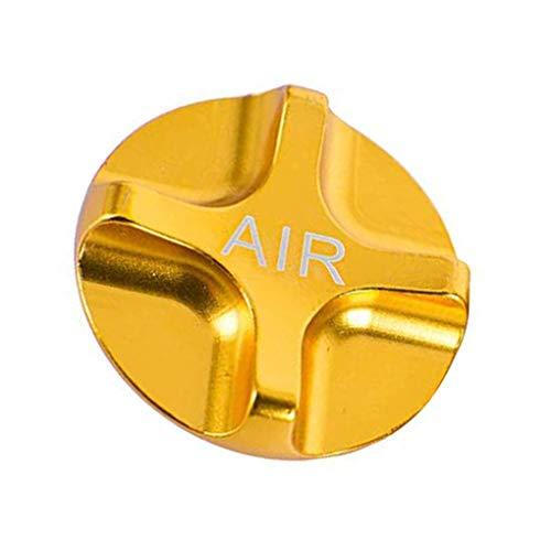 Federung Fahrrad Vorderradgabel Teile für MTB Rennrad, Bike Air Gas Shcrader Ventilkappen (Gold)