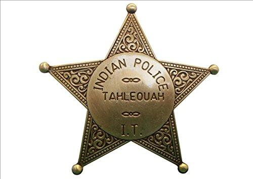 Denix Indianerpolizei Stern messingf. Sheriff Stern Cowboy Western