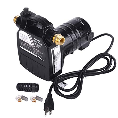 TOPWAY 1/2HP 115Volt Portable Cast Iron Electric Utility Transfer Water Pump with Suction Strainer and Brass Connectors